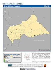 Map: Settlement Points: Central African Republic