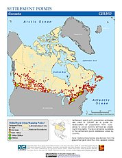 Map: Settlement Points: Canada