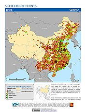 Map: Settlement Points: China