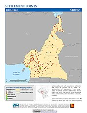 Map: Settlement Points: Cameroon