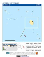 Map: Settlement Points: Cook Islands