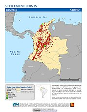 Map: Settlement Points: Colombia