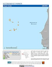 Map: Settlement Points: Cape Verde