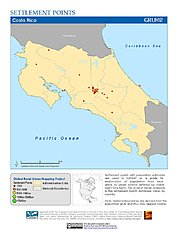 Map: Settlement Points: Costa Rica