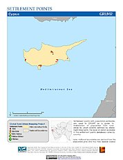 Map: Settlement Points: Cyprus