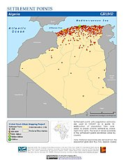 Map: Settlement Points: Algeria