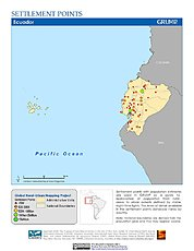 Map: Settlement Points: Ecuador