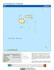 Map: Settlement Points: Fiji