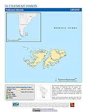 Map: Settlement Points: Falkland Islands