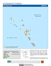 Map: Settlement Points: Guadeloupe
