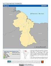 Map: Settlement Points: Guyana