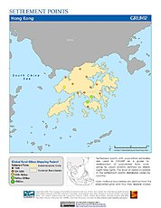 Map: Settlement Points: Hong Kong