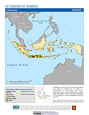 Map: Settlement Points: Indonesia