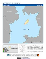 Map: Settlement Points: Isle of Man