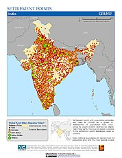 Map: Settlement Points: India