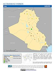 Map: Settlement Points: Iraq
