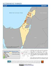 Map: Settlement Points: Israel