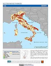 Map: Settlement Points: Italy