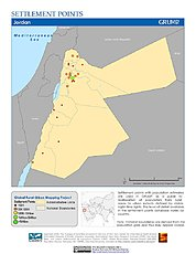 Map: Settlement Points: Jordan