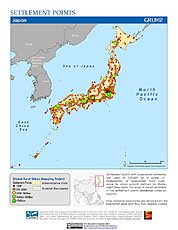 Map: Settlement Points: Japan