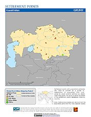 Map: Settlement Points: Kazakhstan