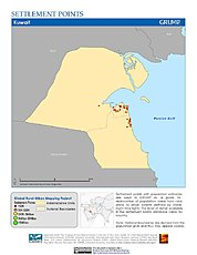 Map: Settlement Points: Kuwait