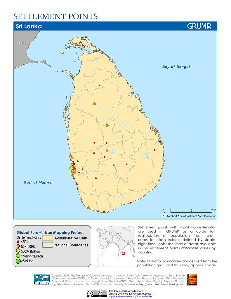 Sri Lanka Map Pdf