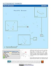 Map: Settlement Points: Marshall Islands