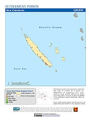 Map: Settlement Points: New Caledonia