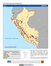 Map: Settlement Points: Peru