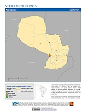 Map: Settlement Points: Paraguay