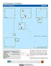 Map: Settlement Points: French Polynesia