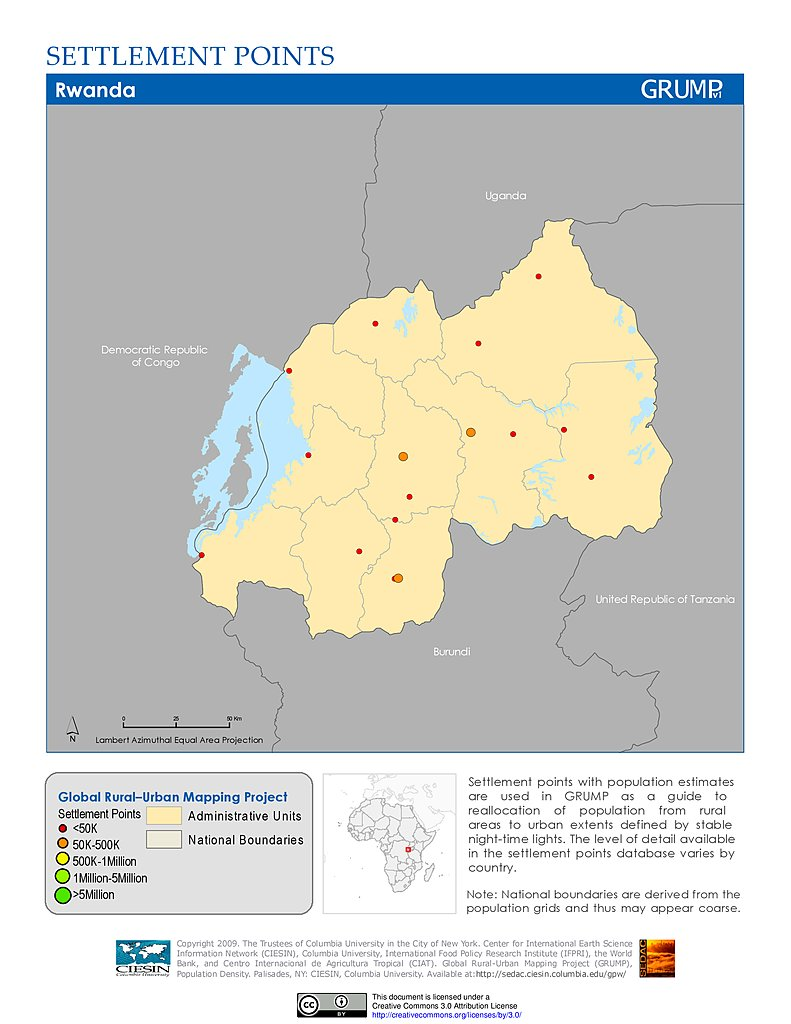 Maps settlement points v1 sedac settlement points rwanda publicscrutiny Image collections