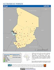 Map: Settlement Points: Chad