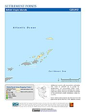 Map: Settlement Points: British Virgin Islands