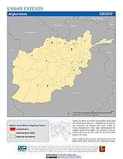 Map: Urban Extents: Afghanistan