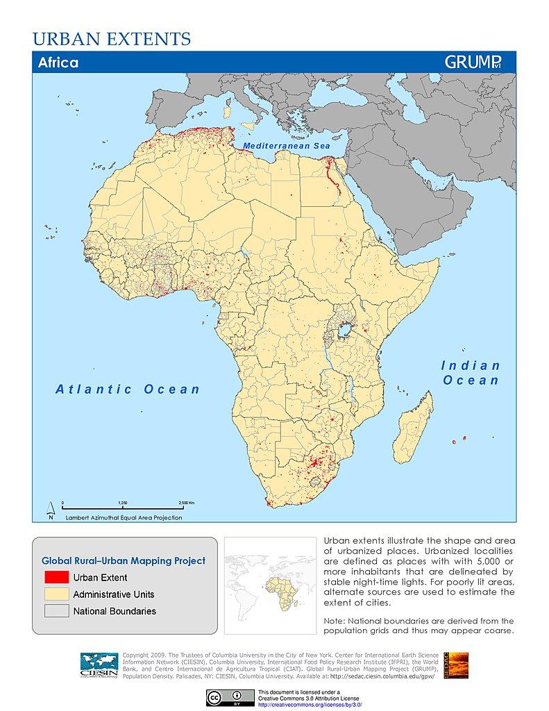 Maps » Global Rural Urban Mapping Project (GRUMP), v1   SEDAC