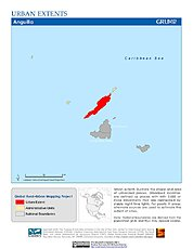 Map: Urban Extents: Anguilla