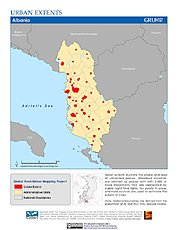 Map: Urban Extents: Albania
