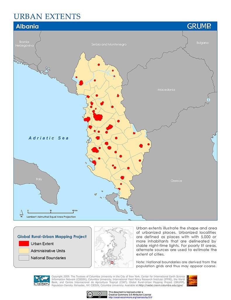 Maps » Urban Extents Grid, v1: | SEDAC