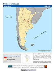 Map: Urban Extents: Argentina