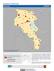 Map: Urban Extents: Armenia