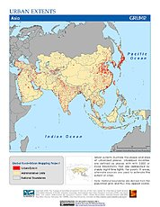 Map: Urban Extents: Asia