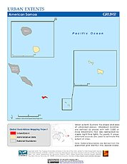 Map: Urban Extents: American Samoa