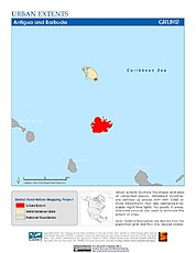 Map: Urban Extents: Antigua & Barbuda