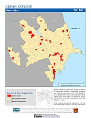 Map: Urban Extents: Azerbaijan