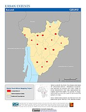 Map: Urban Extents: Burundi