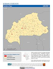 Map: Urban Extents: Burkina Faso