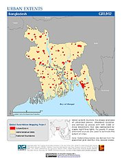 Map: Urban Extents: Bangladesh