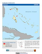 Map: Urban Extents: Bahamas